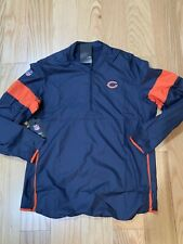 NFL Chicago Bears Nike Dri-Fit Repel Lockdown 1/2 Zip Jacket Men's XXL AO4228