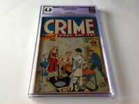 CRIME DOES NOT PAY 49 CGC 4.0 PRE CODE CRIME GUN MOLL BULLET HOLE BLOOD COMICS