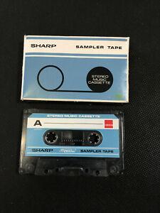 SHARP SAMPLER TAPE audio tape DEMONSTRATION TAPE Cassette ca. 70er/ 80er Jahre