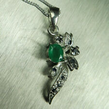 Emerald White Gold Fine Necklaces & Pendants