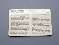 New old stock DUWARD guarantee warranty card paper 50/70s blank garantía NOS