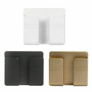 Wall Mounted Mobile Phone Holder Charging Stand Rack Shelf Self Adhesive Bracket