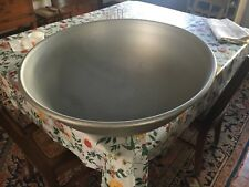 "c1940-50's monster metal dough bowl cafeteria size - gentle wear 10"" h x 25"" dia"