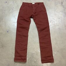 Apolis Rust Brown Red Cotton Light-Weight Pants Men's 31 Made in USA