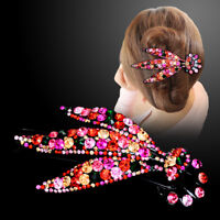 Fashion Women Crystal Hair Clips Claws Hairpin Barrette Pins Hair Accessories