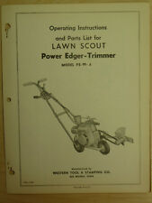 Western Tool Power Edger-Trimmer Instrutions, Parts Manual Pe-99-A