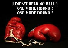 Rocky Boxeo inspiradores citar Cartel / impresión / imagen que no he oído ninguna Bell