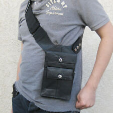 Black Leather Anti-Theft Hidden Underarm Shoulder Bag Gun Pistol Holster