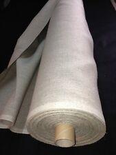 Tissus toile LIN a broder point de croix 320 gr Ficelle écru au mètre large 150