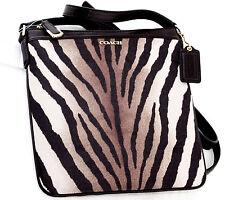 NWT COACH MADISON ZEBRA ANIMAL PRINT SWINGPACK CROSSBODY SIDE BAG 50506 NEW $138