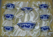 tea set, gong fu, 6 cups, pot and strainer