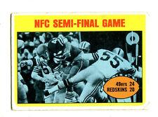 1972 Topps #136 NFC Semi Final San Francisco 49ers / Washington Redskins