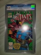 New Mutants #93 CGC 9.2 Movie Coming! Sunfire Wolverine Liefeld /McFarlane