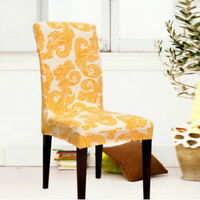 Printed Stretch Dining Chair Covers Weddings Banquet Hotel Chair Cover Decor