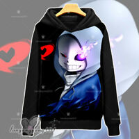 Anime Game Undertale Sans Long Sleeve Hooded Sweatshirt Pullover Coat #Dl65