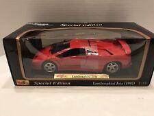 1995 Lamborghini Jota Red 1/18 Diecast Model Car by Maisto New Factory Sealed!!!