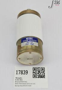 17839 MEIVAC VARIABLE VACUUM CAPACITOR, 15KV-100PF SCV-151