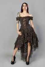 New Vintage Gothic Victorian Steampunk  Lace Corset Wedding Evening Dress 20-24