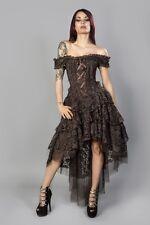 NEW Vintage Gothic Victorian Steampunk corsetto in pizzo nozze abito da sera 20-24