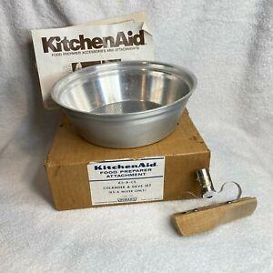 Vintage Hobart/KitchenAid Sieve & Colander Attachment Set K5-A-CS Hard to find.
