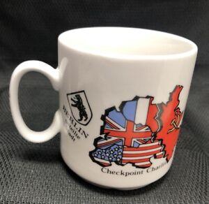 Checkpoint Charlie Russian British Vintage Ceramic Coffee Mug US ARMY