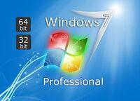 Windows 7 Professional VOLLVERSION Win 7 Pro OEM KEY, Keine DVD, Key per Email