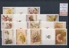 LL96188 Guyana 1985 flowers nature fine lot MNH cv 27 EUR