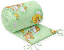 Baby Bedding Bumper 420 cm Allround CotBed Teddy Ladder Green