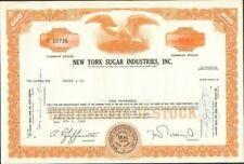 DECO => NEW YORK SUGAR INDUSTRIES (USA) (X)