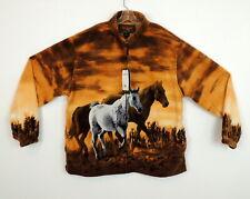 New Trail Crest Mens 3XL Fleece Jacket Horse Equestrian Western Southwest $64.90