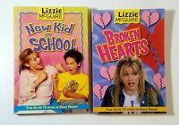 Lizzie Mc Guire Books Lot of 2 New Kid in School & Broken Hearts FREE SHIPPING