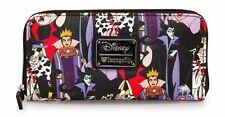 Loungefly Disney Villains All Over Print Cruella Ursula  Pebble Wallet WDWA0398