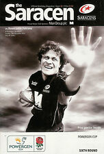 SARACENS v Newcastle Falcons - Powergen Cup 19 Dec 2004  RUGBY PROGRAMME