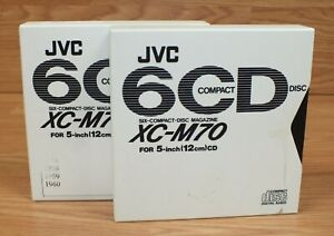 Lot of 2 JVC 6 CD Compact Disc Magazine (XC-M70) For 5 - Inch (12cm) CD + Sleeve
