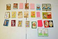 Vintage Playing Cards Lot of 26 Decks HALLMARK CONGRESS GIRAFFE CIRCUS HORSES