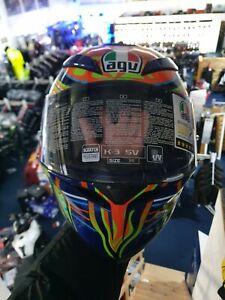 AGV K3 SV Five Continents Motorcycle Motorbike Helmet Vents Paint Fault NEW SALE