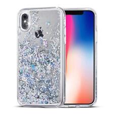 COVER Custodia Glitter Morbida Silicone GEL STRASS per Apple iPhone X Bianco