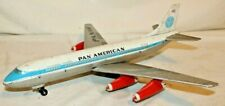 RARE BEAUTY 1957 PAN AM BOEING 707 JET AIRLINER~Alps Japan Marx Tin Toy Airplane
