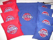 Detroit Pistons Embroidered Cornhole Corn Hole Set of 8 Bags W Storage Bag