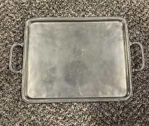 Cosi Tabellini Pewter Tray Serving Dish hand made  ITALY