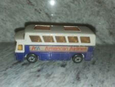 1977 LESNEY MATCHBOX SUPERFAST #65 AIRPORT COACH AMERICAN AIRLINES BUS (g)