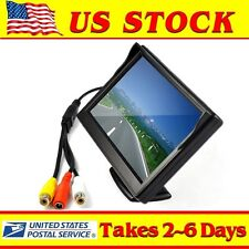 """Hd 800*480 Car Tft Full Color 5""""Lcd Monitor Rear Rearview Backup Cam Video 2Ch"""