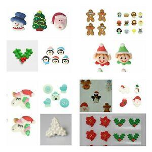 Christmas Sugar Pipings - Edible Cake Decorations - MULTI LISTING