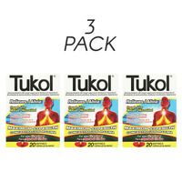 Tukol Max Strength Softgels. Expectorant, Cough Relief. 20 Softgels. Pack of 3