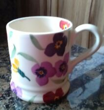 emma bridgewater   wallflower 1/2 pint mug new