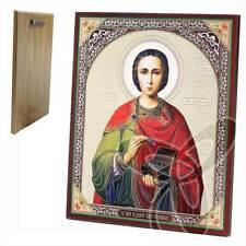 Icona SANTO Pantaleon in legno 20 x 24 икона великомученик целитель пантелеймон