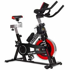 Bicicletta spinning indoor regolabile display LCD volante inerzia 24kg –GOSPORT