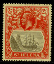 More details for st. helena gv sg109, 2s 6d grey & red/yellow, lh mint. cat £21.