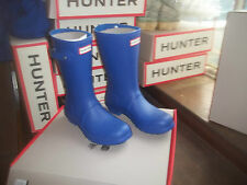 HUNTER WELLIES WELLINGTONS  IN HALIFAX SIZE 7  BRIGHT COBALT BLUE  SHORT LADIES