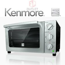 New Kenmore 6 Slice Black & Stainless Convection Toaster Oven Free Shipping